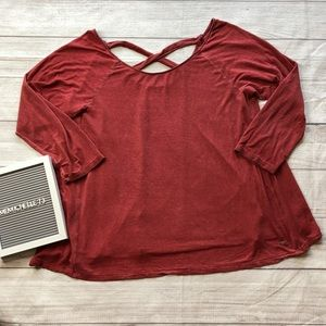 American Eagle Womens XL Soft & Sexy Red T-Shirt